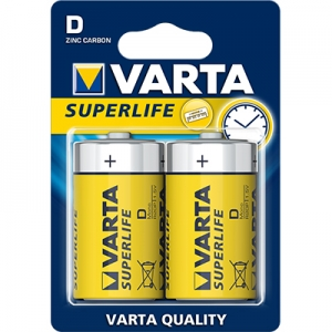 Varta Superlife 2020, 1.5V, R20, D, MN1300, Mono